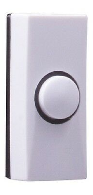 Byron White Hard Wired Doorbell Bell Push Press Button 7910