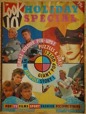 Look In Holiday Special Magazine 1986 Shakin' Stevens / Madonna / A-Ha / Airwolf