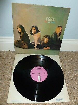 FREE Fire And Water LP UK 1970 1st Press STEREO ISLAND ILPS 9120 PINK RARE