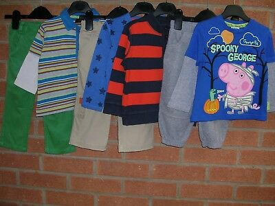 NEXT M&S GEORGE PIG Boys Bundle Jeans Joggers Tops Shirts Jumpers Age 12-18m