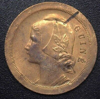 Portuguese Guinea 1933 20 Centavos Near Gem Uncirculated  Km#3
