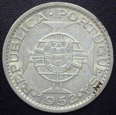 Portuguese Guinea 1952 20 Escudos Near Choice Uncirculated  Km#11