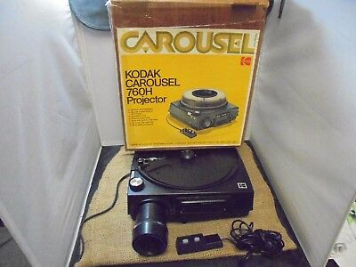 Vintage Kodak Carousel 760H 35mm Slide Projector w/Remote and Box