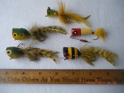 5 Vintage Bass Flies