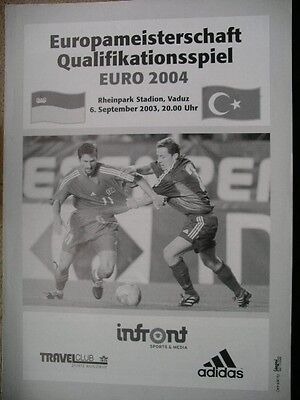 LIECHTENSTEIN  v  Turkey  2003  European Qualifier.