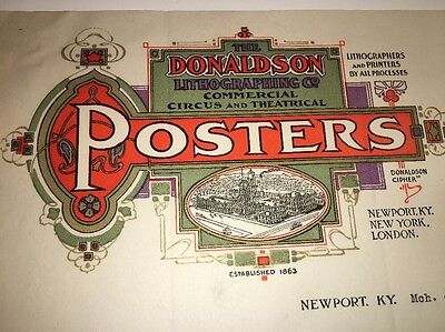 Donaldson lithographer circus poster 1914 letterhead Newport KY Diehl Beer Brewe