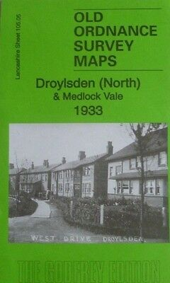 Old Ordnance Survey Map Droylsden North & Medlock Vale Lancashire 1933 S105.05