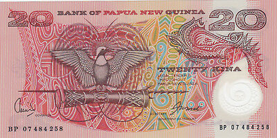 20 Kina Aunc-Unc Banknote From New Guinea !pick-?
