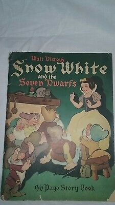 1938 Walt Disney's Snow White And The Seven Dwarfs 96 Page Story Book Whitman