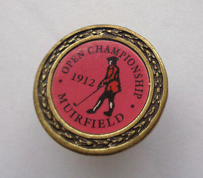 Open Championship  1912 Muirfield  Golf-Ball Marker