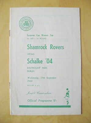 SHAMROCK ROVERS v SCHALKE ECWC 1969/1970 *Good Condition Football Programme*