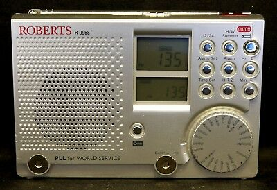 Roberts R9968 Travelling Lite 2 9-Band SW/FM/MW World Travel Radio - VGC