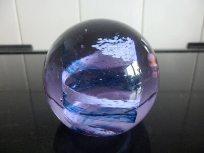 CAITHNESS glass paperweight PASTEL must see STAMPED