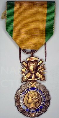WWI WW1 World War One French solid silver gilt Medaille Militaire Military Medal