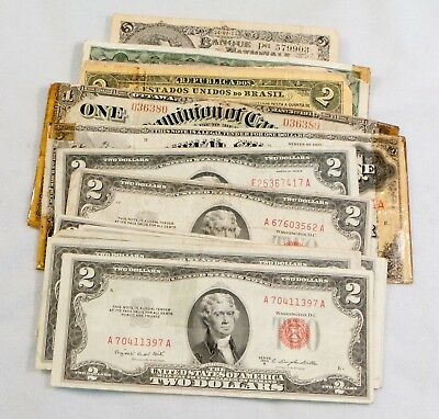 15 Piece Lot of U.S. & Foreign Currency