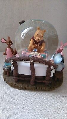 Superb Large Winnie The Pooh And Friends (Disney) Musical Snow Globe