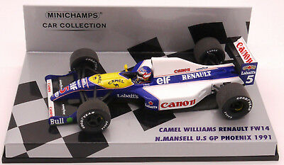 Minichamps Camel Williams Renault Fw14 N.mansell Usa Gp 1991  1/43 Scale