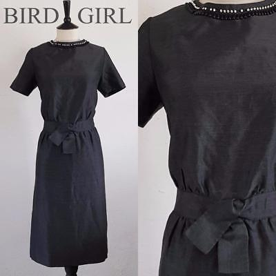 Bombshell 1960S Vintage Grey Wool Wiggle Hourglass Cocktail Dress 14 M