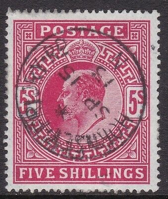 Gb 1912 Somerset House 5S Carmine Cds Used