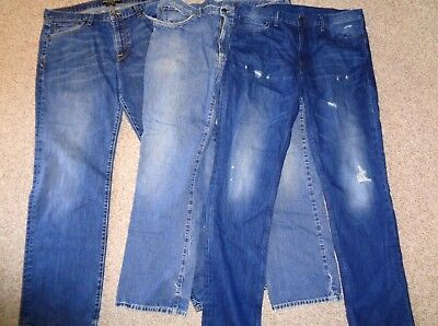 Lot Of Mens Jeans Lucky Brand Ralph Lauren Polo Distressed Destroyed Size 38