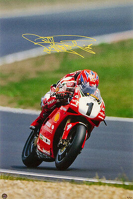 Carl Fogarty hand signed 'Full Speed' unframed image COA, PHOTOPROOF! Limited Ed