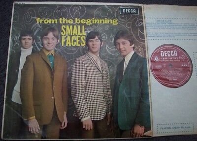 SMALL FACES From The Beginning UK DECCA MONO RED/SILVER GROOVED 1st DG Beat Mod