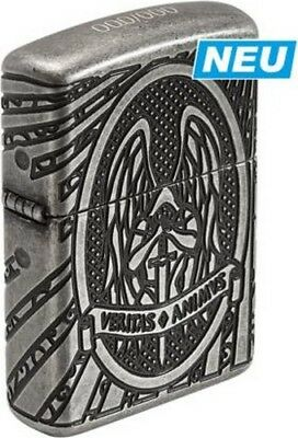 "Zippo Limited ""st. Michael"" Silver Antique 8 Sides Deep Engraved Lighter * New *"