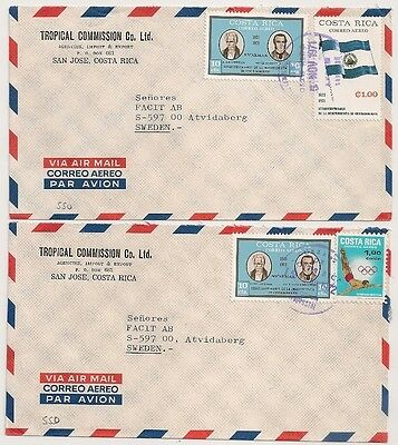2 Covers Costa Rica San Jose To Sweden. L550