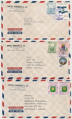 3 Covers Costa Rica San Jose To Sweden. L 551