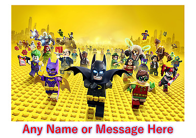 Personalised Kids Childrens Placemat / Dinner Mat With Puzzles Batman Lego (1)