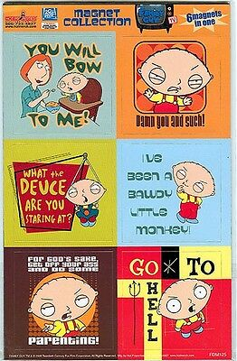 Family Guy Stewie 6 pc Magnet Collection Lois