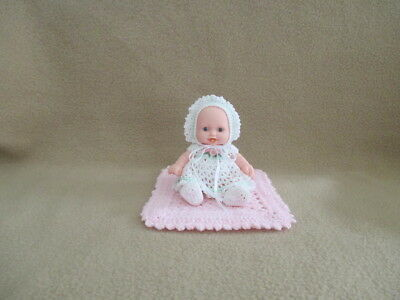 "Berenguer 5"" Look Alike Silicone Vinyl Baby Doll+Ooak Clothes+Miniature Blanket"