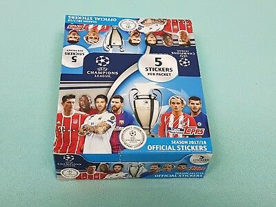 Topps Champions League Sticker 2017/2018 1 x Display / 30 Tüten Neu