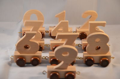 New Personalised Natural Wooden Numbers Train Age Toy Gift Stock Legler