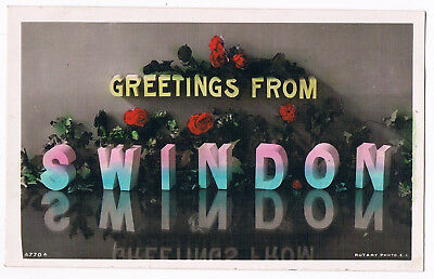 Swindon - Floral Greetings From - Real Photo - Posted 1907 - By Maybury's