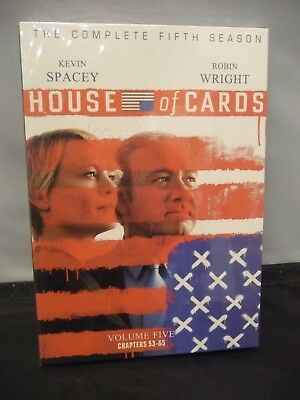 House of Cards Season 5(DVD,4-Disc Set) Free Shipping
