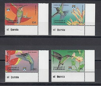 Timbre Stamp  4 Ile Dominica Y&t#1377-80 Oiseau Bird Neuf**/mnh-Mint 1992 ~A51