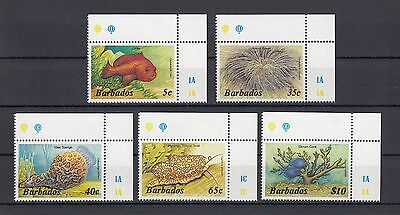 Timbre Stamp  5 Ile Barbades  Y&t#614-18 Poisson Fish Neuf**/mnh-Mint 1985 ~A51