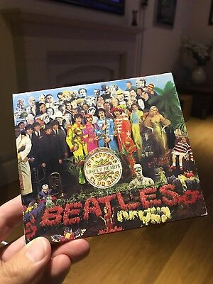 Vintage Rare Beatles Sgt Pepper's Lonely Hearts Club Band CD With Slip Cover '87