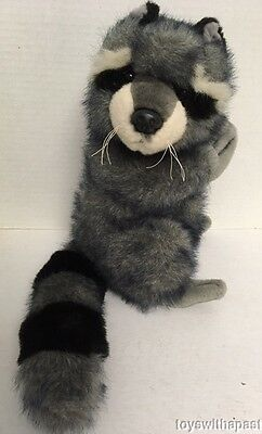 "Fiesta RACCOON 12"" Plush Tip-Dyed Prayer Hands Head Turned Stuffed Animal Toy"