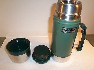 Vintage Aladdin Stanley USA Made 24 oz. Wide Mouth Thermos A-1350B Green ~GUC