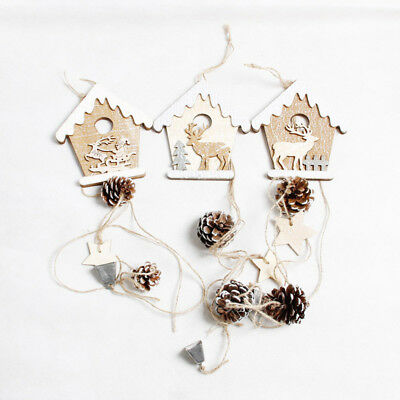 Wooden Christmas Cabin Pendant Accessories Christmas Christmas Tree Decorative