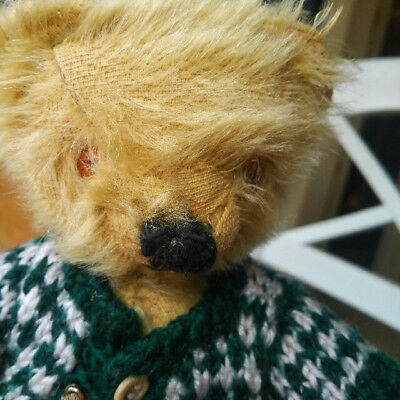 Antique vintage 1950's small Chad Valley Teddy bear 10 inches, England UK