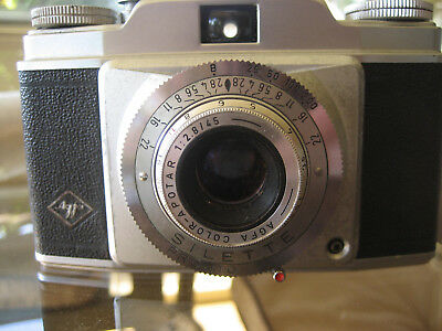 AGFA 'Silette Pronto' with case 35mm camera 1950's