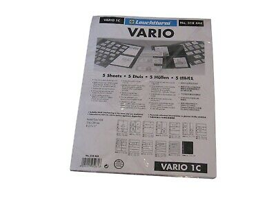 5 Lighthouse Vario 1 Pocket Clear Stamp Stock / Photo Album Pages binder sheets