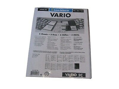 5 Lighthouse Vario 2 Pocket Clear Stamp Stock / Photo Album Pages binder sheets