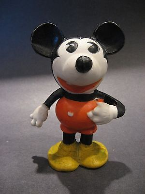 Antique 1930's Walt E. Disney Mickey Mouse Bisque Porcelain Toothbrush Holder