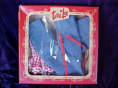 Vintage 1950's Tiny Terri Lee Outfit with Box - Unused - Farmerette