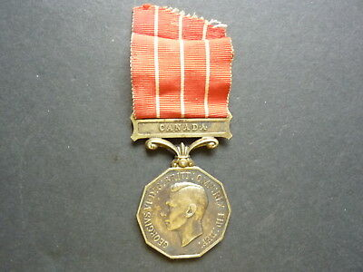 WWII Canadian CD Medal Issued To SGT. H. Thomander