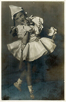 1950's YOUNG BALLERINA Russian photo postcard - ONLY 5000 published